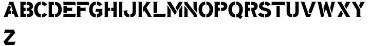 Stencil Mark JNL Font Sample