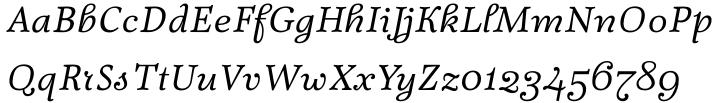 Fidelia Script Font Sample