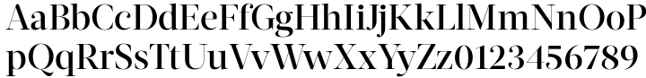 Acta Display Font Sample