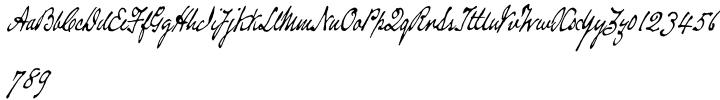 Douglass Pen™ Font Sample