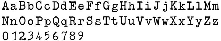 Typewriter Revo Font Sample