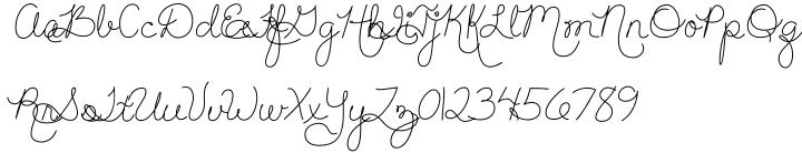 Hand Of Joy Font Sample