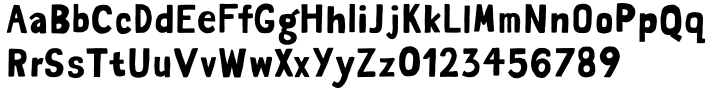 Saturator FA Font Sample