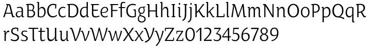 Oksana Text Narrow™ Font Sample