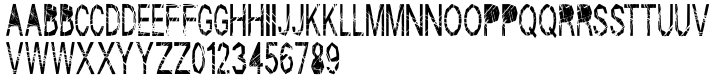 Skratch Font Sample