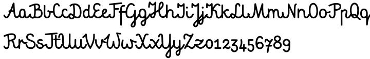 Mrs White Font Sample