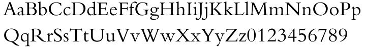 Bembo® Font Sample