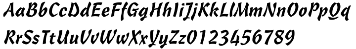 Freehand 471 Font Sample