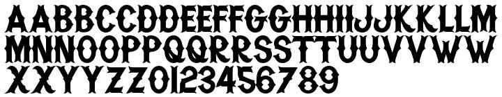 H74 Warriors Font Sample