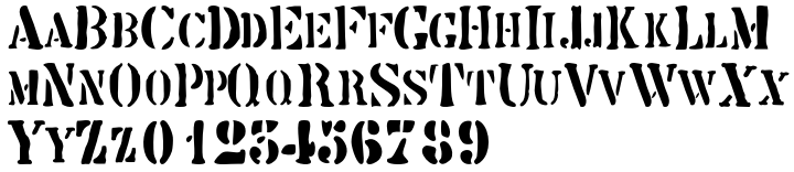 Butterworth Font Sample
