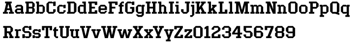 Offense Font Sample