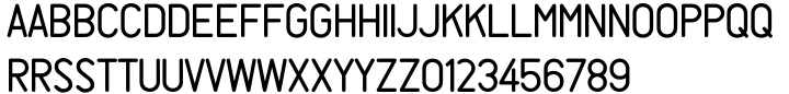 Rendering JNL Font Sample