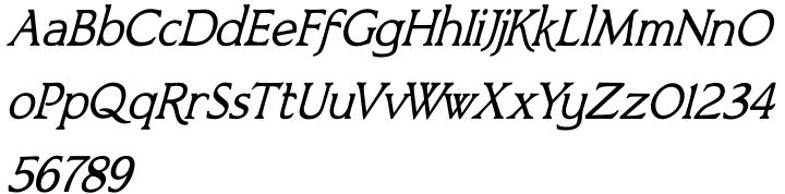 Bronzetti™ Font Sample