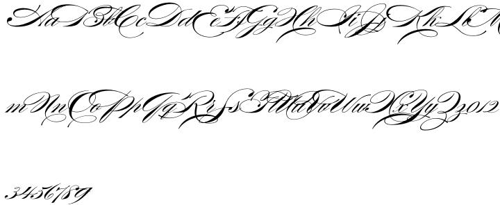 Burgues Script Font Sample