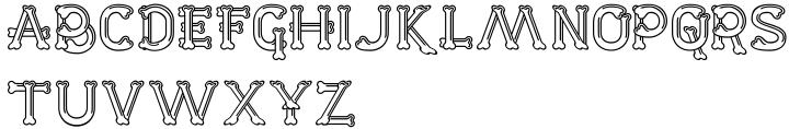 Dem Bones Font Sample
