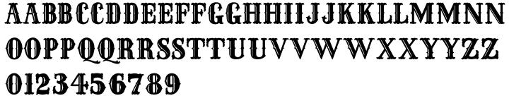 Frontiersman JNL Font Sample