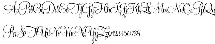 Feel Script™ Font Sample