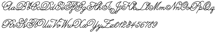 Melany Lane Font Sample