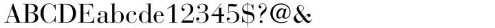 Bauer Bodoni™ Font Sample
