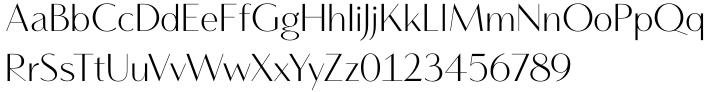 Vanitas™ Font Sample
