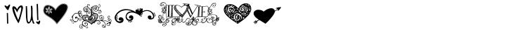 KG Heart Doodles Font Sample