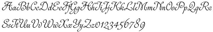 Rosabella Font Sample