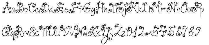 Janda Swirly Twirly Font Sample