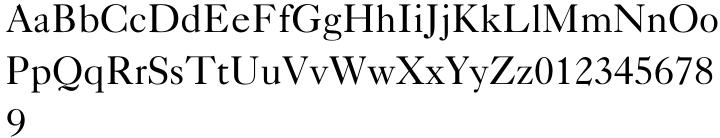 Caslon 540 Font Sample