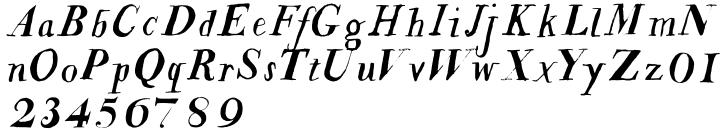 Jacob Riley™ Font Sample