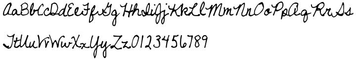 Never Let Go Font Sample