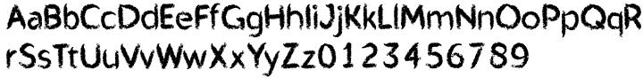 Mr Chalk Font Sample