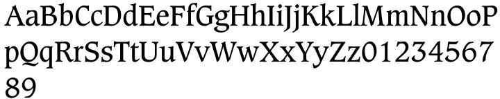 Caxton™ Font Sample