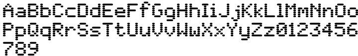WL Rasteroids Font Sample
