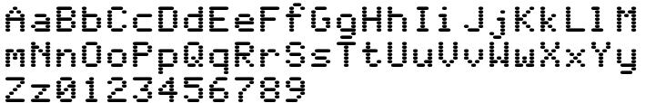 WL Rasteroids Monospace Font Sample