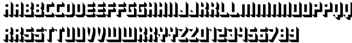 Hard Shadow Font Sample