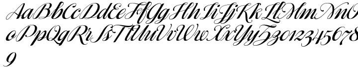 Ragazza Script Font Sample