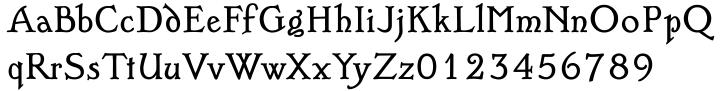 English Garden SG Font Sample