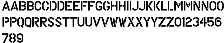 Painting Stencil JNL Font Sample