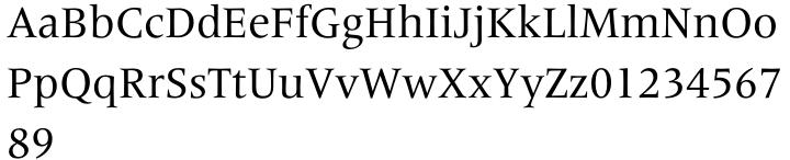 Frutiger Serif Pro™ Font Sample