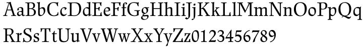 Renner Antiqua™ Font Sample