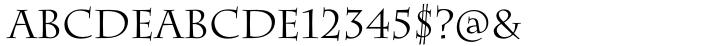 Charlemagne® Font Sample