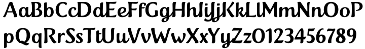 Tendria™ Font Sample
