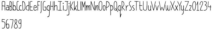 Pimpernel Font Sample