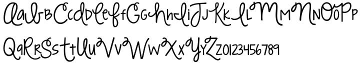 KG Strawberry Limeade Font Sample