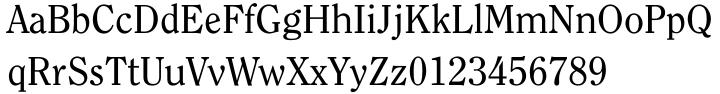 ITC Clearface® Font Sample