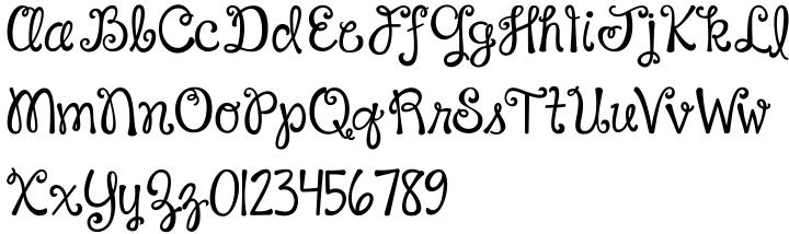 Janda Happy Day Font Sample
