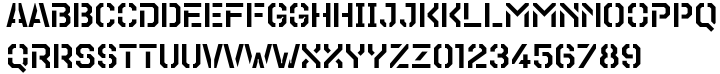 TecoSans Stencil Font Sample