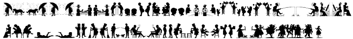 Human Silhouettes Font Sample