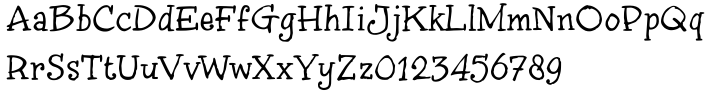 inkyDoo Font Sample