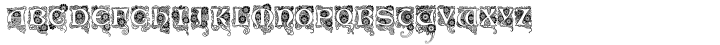 Art Deco Flowery Initials™ Font Sample